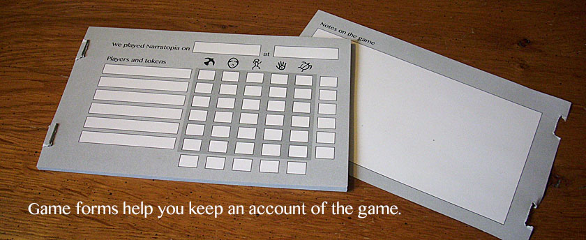 Game forms help you keep an account of the game.